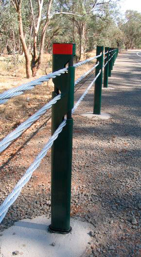 Wire Rope Safety Barriers - Sentryline